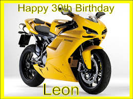 personalised edible icing cake topper decoration a4 motorbike yellow