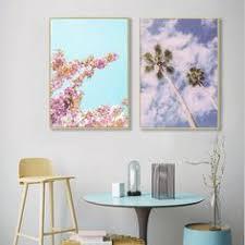 $2.99 <b>Nordic</b> Poster <b>Minimalist Landscape</b> Canvas Painting Pink ...