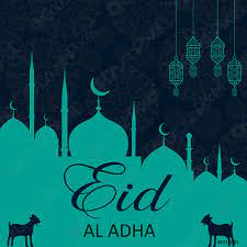 Eid al adha Grußkarte - Stock-Vektorgrafi