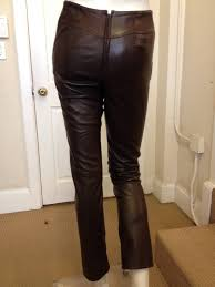 chanel chocolate brown leather pants in excellent condition for in san francisco ca