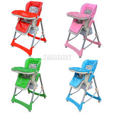 Foldable Baby High Chair Recline Highchair Height Adjustable