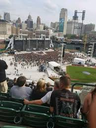 Metallica Comerica Park Seating Chart Comerica Park Section 334 Row 8 Seat 4 Metallica Tour