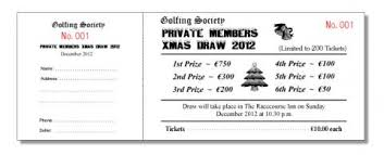 Raffles Tickets Raffle Benefit Night Tickets Baldoyle Print Ltd North Dublin