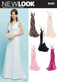 Wedding Dress Patterns To Sew Mesmerizing Amazon New Look Sewing Pattern 48 Misses Special Occasion