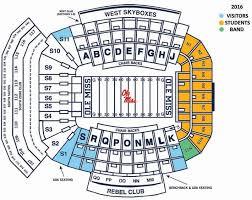 Georgia State Football Seating Chart 2016 Seating Chart Football Ticket Ole Miss Rebels Ole Miss