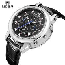 aliexpress com buy megir famous brand men s watches men top megir famous brand men s watches men top brand luxury quartz watch 2016 relogio masculino genuine man