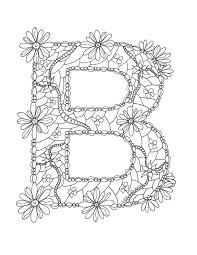 Letter B Coloring Sheet Letter B Coloring Pages Adult Page Alphabet