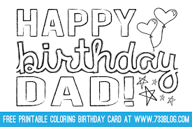 Happy Birthday Card Templates Free Classy DADGRANDPA Printable Coloring Birthday Cards Activities For Kids