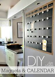 diy chalkboard magnetic calendar organizing with wall decor 9