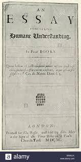 John Locke Titlepage To His Essay On Humane Understanding Stock