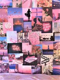 pink aesthetic pretty retro wall