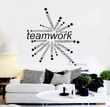 diy office decor. Teamwork Words Quote Vinyl Wall Decals Office Decor Business Decal DIY  Self-Adhesive Stickers Diy Office Decor