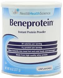 beneprotein instant protein powder unflavored 8 oz pack of 6