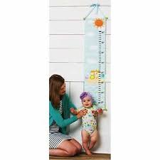 How High To Hang A Growth Chart Details About Evergreen Enterprises Inc Noahs Ark Canvas Growth Chart Blossoms Buds