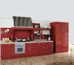 Red Kitchen Red Kitchen Cabinets Pictures Modern Red Kitchen Cabinets