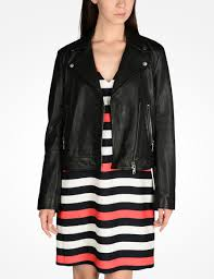 armani exchange leather moto jacket leather for women a x