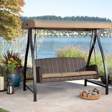 porch swing with canopy a patio