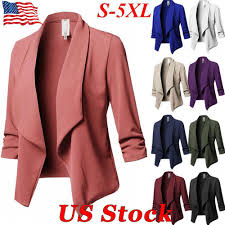 Blazer Sleeve Length Chart Details About Usa Women Long Sleeve Cardigans Open Front