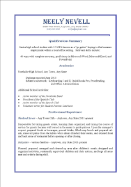 Summer Job Resume For Teens Profesional Resume Template