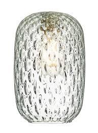 david hunt vidro small clear dimpled glass pendant lamp shade