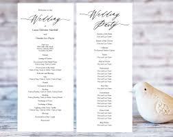 Wedding Ceremony Programs Wedding Templates And Printables