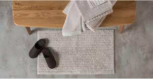 alto 100 cotton bath mat grey putty bath mats bed bath made com