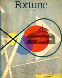 mid century modern design postwar 1940 s fortune magazine cover by lester beall fortune magazine