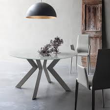 Italian Extendable Dining Table Round Extending Dining Table With Metal Grey Or White Legs And