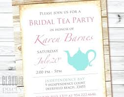 tea party invitations free template tea party invitations invitation template word bridal shower