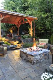 Covered patio with fire pit Outdoor Living Portableoutdoorfirepitpatiotraditionalwithcoveredpatiofirepit forestgardengrilllandscapelighting Cybballcom Portableoutdoorfirepitpatiotraditionalwithcoveredpatiofire