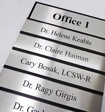 interchangeable wall sign