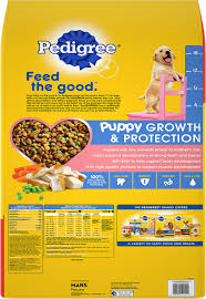 Pedigree Puppy Food Feeding Chart Pedigree Puppy Growth Protection Chicken Vegetable Flavor Dry Dog Food 36 Lb Bag