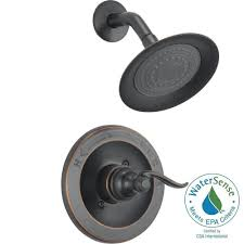 delta oil rubbed bronze shower head. Brilliant Rubbed Delta Windemere 1Handle Shower Only Faucet Trim Kit In Oil Rubbed Bronze  Valve Inside Head Home Depot