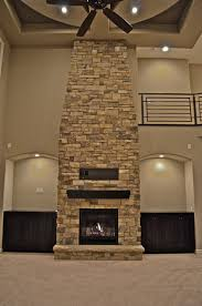 Floor-to-ceiling Fireplace contemporary-living-room
