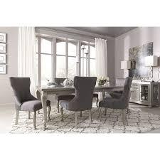 corne silver rectangular extendable dining room set