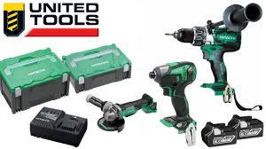 hitachi impact driver 18v. hitachi brushless 18v 3 pce kit - hammer drill, ip56 impact driver \u0026 5\ 18v b