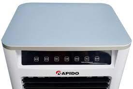 Quạt điều hòa không khí Rapido TURBO 3000D (Điều khiển từ xa) (Có thể lắp  thêm tấm lọc nano) - Hàng Chính Hãng   Home store