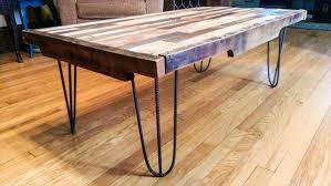 diy pallet coffee table with metal