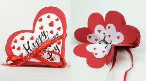 Homemade Valentine Card Diy Valentine Accordion Flip Card