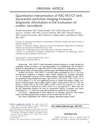Relationship between quantitative analysis of FDG PET/CT and myocardial...  | Download Scientific Diagram