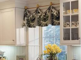 Yellow And Red Kitchen Curtains Kitchen Simple Red Floral Pattern Fabric Modern Kitchen Curtain