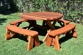 round wooden picnic table wooden picnic tables for awesome round wooden picnic tables all