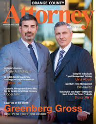 Doug Greenberg Greenberg Gross Llp Featured In Attorney Journal Magazine