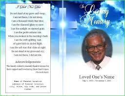 Funeral Pamphlet Templates Awesome Memorial Brochure Templates Free Fresh Funeral Program Black Of