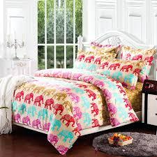 elephant bedding twin colorful pink comforter elephant bedding