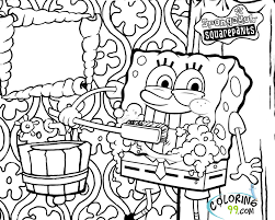 Small Picture Spongebob Squarepants Coloring Pages Minister Coloring