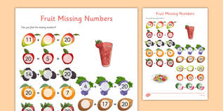 Missing Numbers Worksheets Missing Number Addition To 20 Worksheet Activity Sheet