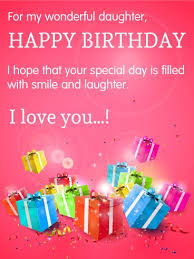 Happy Birthday To My Beautiful Daughter Quotes 81 Awesome For My Wonderful Daughter Happy Birthday Cards Cards Pinterest