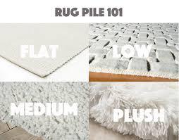 wool rug pile height
