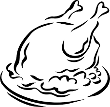 turkey dinner clipart black and white. Simple White Roasted Turkey Clipart  Library  Free Images To Dinner Black And White D